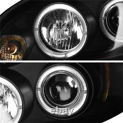 06-07 Chevy Monte Carlo/06-13 Impala HALO LED DRL Black Projector Headlight Lamp
