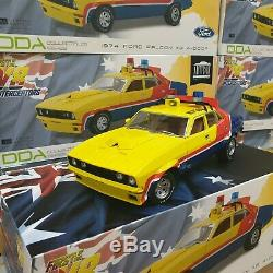 118 Yellow Police MFP Ford XB Falcon 1st of the V8 Interceptors Mad Max Model