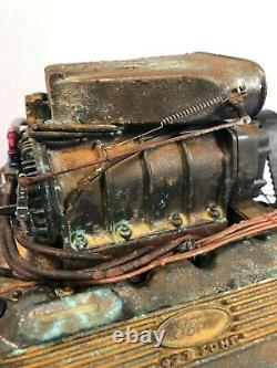 16 SCALE FORD BLOWN 427 DRAGSTER MOTOR Custom Barn Find Unrestored Weathered