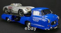 1954-1955 Mercedes Racing Car Transporter The Blue Wonder 1/18 Diecast CMC 143