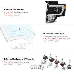2009-2014 F150 Lobo FiBer OptiC Neon Tube Projector Head Lights Assembly PAIR