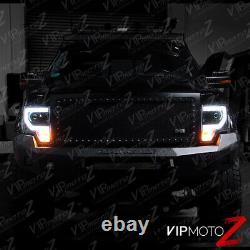 2009-2014 Ford F150 CYCLOP OPTIC LED Tube Matte Black Headlights
