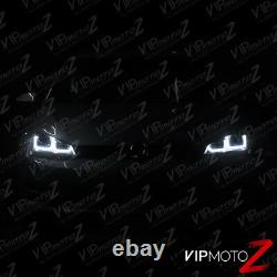 2015-2017 Golf GTI SportWagen Black Dual LED Neon Tube Projector Headlights PAIR