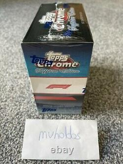2020/21 Topps Formula 1 Chrome Sapphire New & Sealed. UK IN HAND NEXT DAY DLVRY