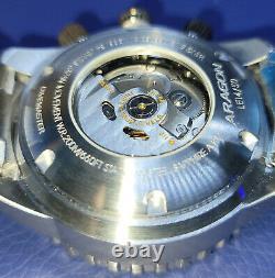 ARAGON DiveMaster IV 50mm Blue Dial SII NE88 AUTOMATIC Chronograph Watch A391BLU