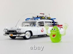 AUTO WORLD AWSS118 1959 CADILLAC GHOSTBUSTERS ECTO 1 diecast model & figure 118