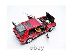 AUTOart 74771 LANCIA DELTA S4 STRADALE diecast model road car red body 1985 118