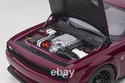 Autoart 118 Diecast 2018 Dodge Challenger SRT Hellcat Widebody in Octane Red