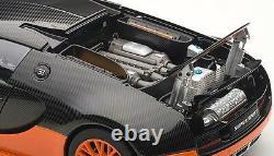 Autoart 70936 118 Bugatti Veyron Super Sport Carbon Black/orange Supercar