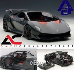Autoart 74671 118 Lamborghini Sesto Elemento Carbon Grey Supercar