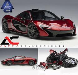 Autoart 76062 118 Mclaren P1 (volcano Red) Supercar