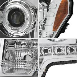 BEST QUALITY 09-14 Ford F150 LED Halo Angel Eye DRL Projector Headlight Lamp