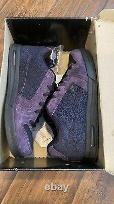 Bam Adio Shoes Heartagram V. 3 Black/Purple Motif 2006- Size 11-Brand New- H. I. M