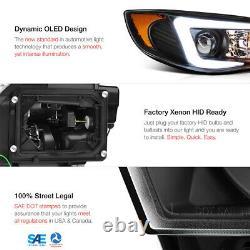 C-Shape OLED Tube Headlights Lamps For 2008-2014 Subaru WRX STI Xenon HID D2S