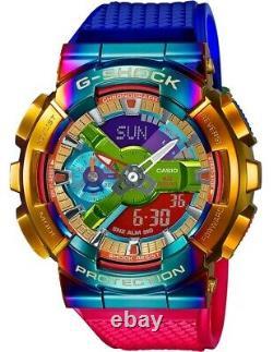 Casio G-Shock GM110RB-2A Analog-Digital Metal-Resin Rainbow Watch
