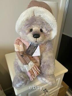 Charlie Bears Jammies Ltd Edition Mohair Bear Club Bear. PLUS PIN BADGE