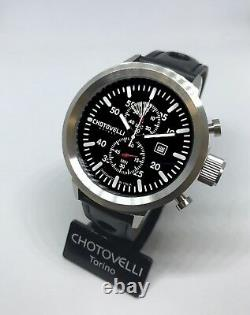 Chotovelli Mens Big Pilot Watch uboat homage Chronograph Italian leather 747.11