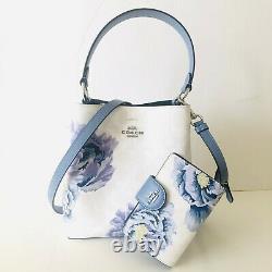 Coach Town Bucket Bag Kaffe Fassett Floral White Purse Wallet Set Options NWT
