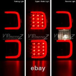 DARKEST SMOKE LED Tube Tail Lights Lamps TRoN StyLE For 2009-2014 Ford F150