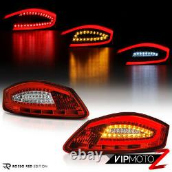 For 05-08 Porsche 987 Boxster Cayman FACTORY RED LED Tube Tail Light Assembly