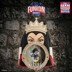 Funkon 2021 Virtual Con Loungefly Snow White Evil Queen Mini Backpack ONLY