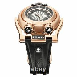 Gv2 By Gevril Men's 3402 Triton Automatic Limited Edition Black Leather Watch