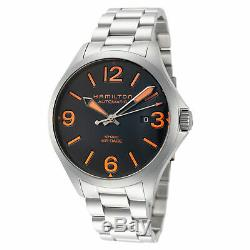 Hamilton Men's Khaki Aviation H76535131 42mm Black Dial SS Automatic Watch
