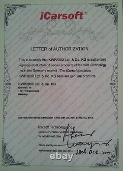 ICarsoft US V2.0 Diagnosegerät für Ford Jeep OBD Diagnose & Service Rückstellung