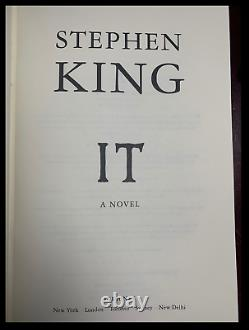 IT by Stephen King New Custom Hand Leather Bound Deluxe Gift Hardcover with Ribbon