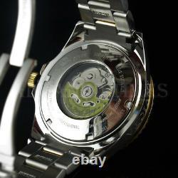 Invicta 300m Grand Diver Auto Ltd Ed DIAMOND Charcoal Dial Two Tone SS Watch NEW