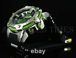 Invicta 52mm MARVEL HULK Limited Edition Chronograph Green & Black Watch NEW