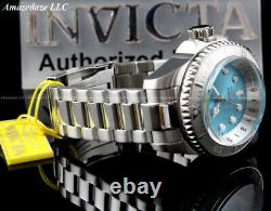 Invicta Men 52mm Hydromax Ocean Voyage LE Stainless Steel Blue Wavy Dial Watch