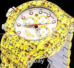 Invicta Men GRAND PRO DIVER Chronograph SpongeBob White Dial HYDROPLATE Watch