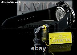 Invicta Men Hercules Reserve 56mm Bolt Swiss Chronograph BLACK MOP DIAL SS Watch