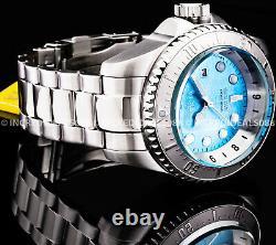 Invicta Men SKULL HYDROMAX OCEAN VOYAGE Ltd Ed Blue Dial Silver Bracelet Watch
