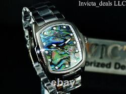 Invicta Men's 47mm GRAND LUPAH ABALONE DIAL Black Tone Special Edition SS Watch