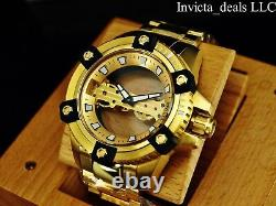 Invicta Men's 48mm ARSENAL GHOST BRIDGE Limited Ed Mechanical 18K GP SS Watch