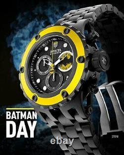 Invicta Men's 52mm DC Comics BATMAN Subaqua Swiss Chrono COMBAT Black SS Watch
