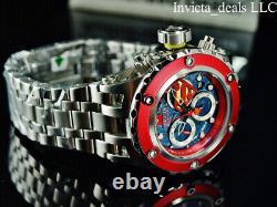 Invicta Men's 52mm DC Comics SUPERMAN Subaqua Swiss Chronograph BLUE DIAL Watch