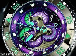 Invicta Reserve INDIGO JOKER Master Calendar 5040F Swiss Made Black Strap Watch