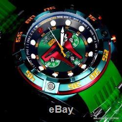 Invicta Star Wars Boba Fett 52mm Chronograph Limited Edition Green Watch New