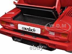 Lamborghini Countach 25th Anniversary Edition Red 1/18 Model By Autoart 74534