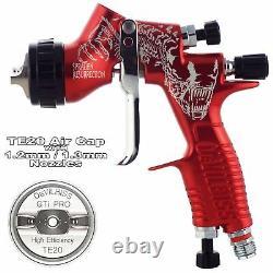 Limited Edition DeVilbiss GTi ProLite Red TE20 Air Cap Spray Gun 1.2/1.3mm Tip