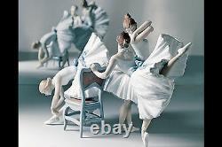 Lladro #8476 Backstage Ballet Limited Edition Brand Nib 3 Ballerinas Girls F/sh
