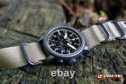 Lum-Tec Watch Combat B B44 Camo Chronograph with Two Military-Style Straps