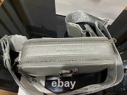 MARC JACOBS Snapshot DTM Metallic Silver Small Camera Bag 100% AUTHENTIC & NEW