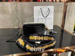 MARC JACOBS Snapshot New Black Multi Small Camera Bag Crossbody 100% Genuine NEW