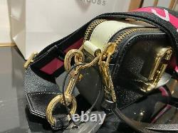 MARC JACOBS the Logo Strap Snapshot Black Multi Small Camera Bag 100% AUTHENTIC