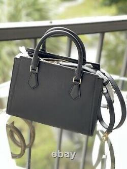 Michael Kors Women Leather Crossbody Bag Handbag Purse Satchel Shoulder Black MK
