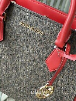 Michael Kors Women Leather Crossbody Bag Handbag Purse Satchel Shoulder Brown MK
